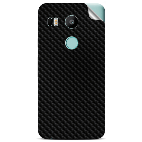 google nexus 5x Black Carbon Fiber Skin Sticker