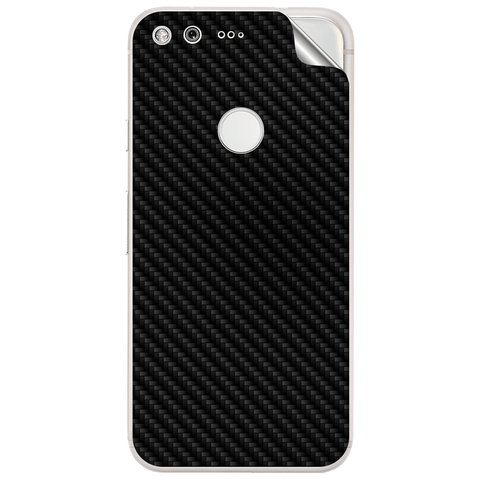 google pixel 2 xl Black Carbon Fiber Skin Sticker
