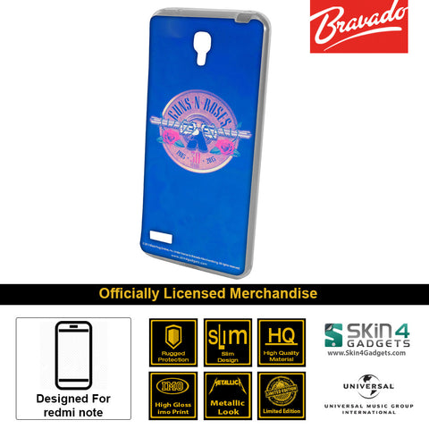 Phone Case For Xiaomi Redmi Note  Artist: Guns n Roses Emblem  30 Years Edition