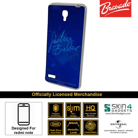 Phone Case For Xiaomi Redmi Note  Artist: Justin Bieber Signature