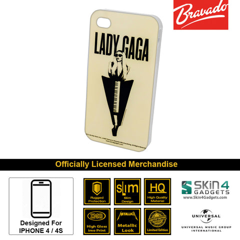 Phone Case For iPhone 4  Artist: Lady Gaga Piano