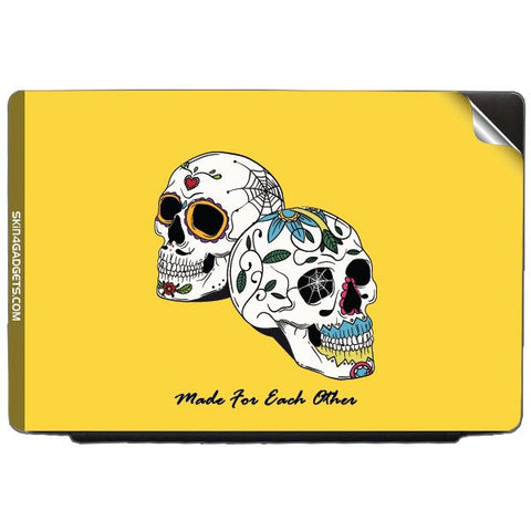 Made for each other (Skulls & Roses) For TOSHIBA SATELLITE C50-A Skin