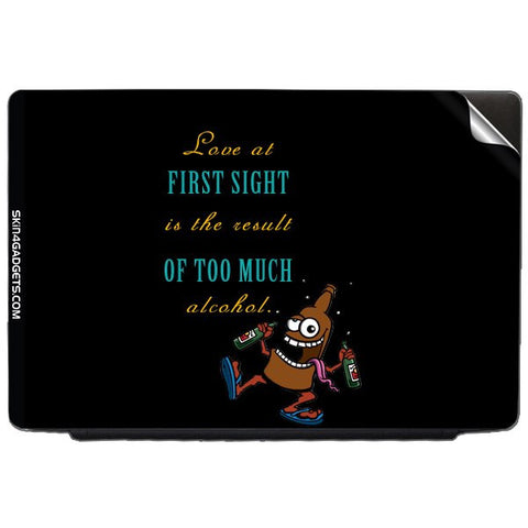 Love at first sight is the result of too much alcohol For LENOVO THINKPAD T61 7658 14 Skin