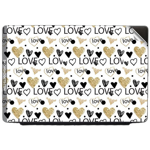 Heart and Love Doodle For DELL INSPIRON 17R Skin - skin4gadgets