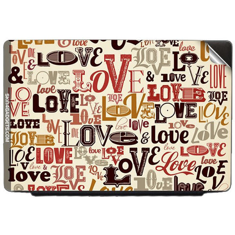 Love typography For DELL INSPIRON 17-1750 Skin - skin4gadgets