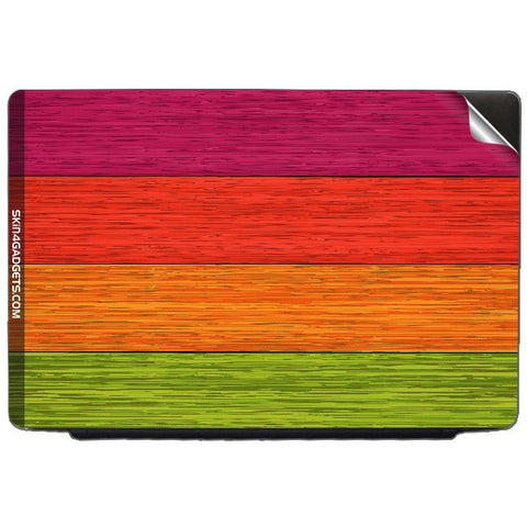 Multicolor Wooden Planks For DELL INSPIRON 17-1750 Skin