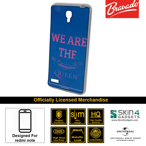 Phone Case For Xiaomi Redmi Note  Artist: Queen We Are The  Champions