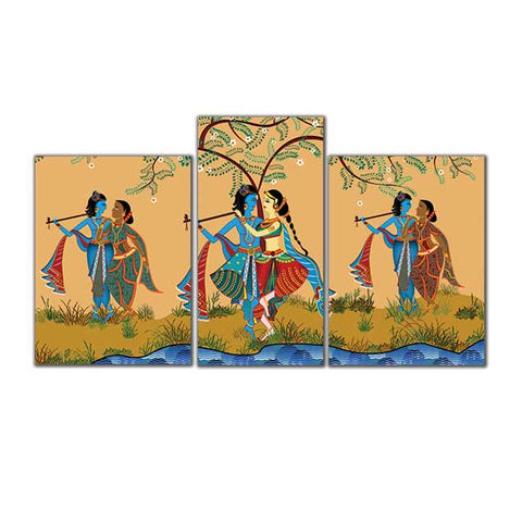 Raas Leela- Canvas Print Stretched and Framed