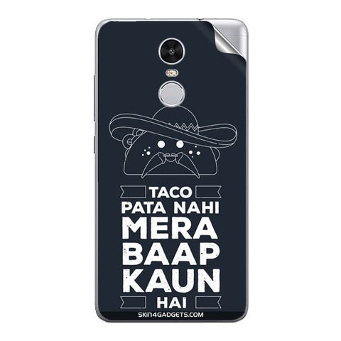 Taco Pata Nahi For Xiaomi Redmi Note 3 Skin