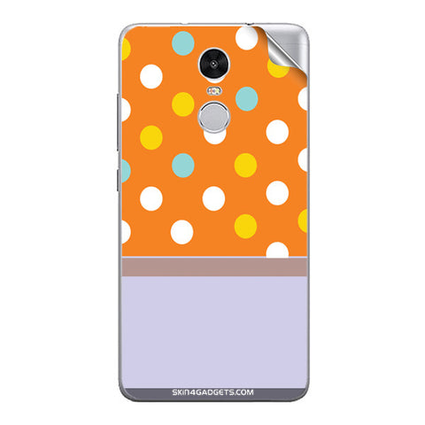 Polka Orange For Xiaomi Redmi Note 3 Skin