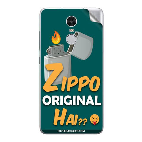 Zippo Original Hai? For Xiaomi Redmi Note 3 Skin