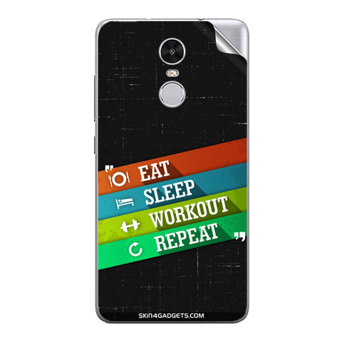 Eat Sleep Workout Repeat For Xiaomi Redmi Note 3 Skin