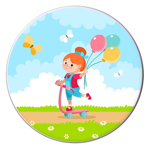 Girl With Balloons Designer Lunch box