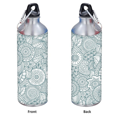 Abstract Floral background 750 ml Designer Sipper