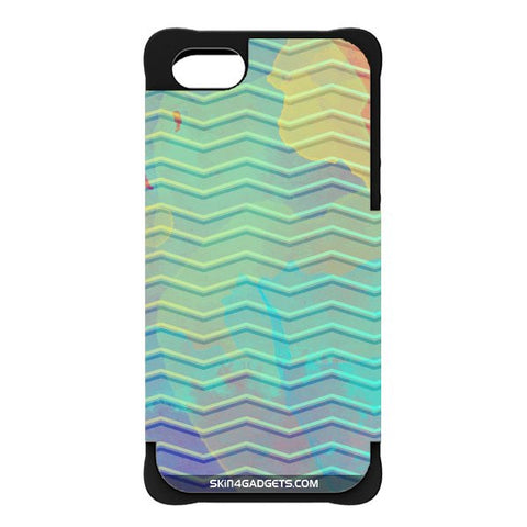 Colourful Waves For APPLE IPHONE 5 BLACK CARGO CASE
