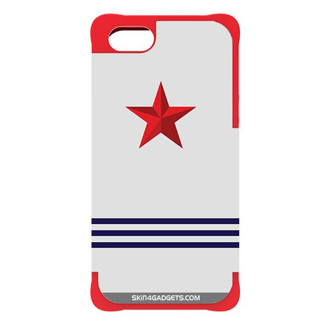 Star Strips For APPLE IPHONE 5 RED CARGO CASE