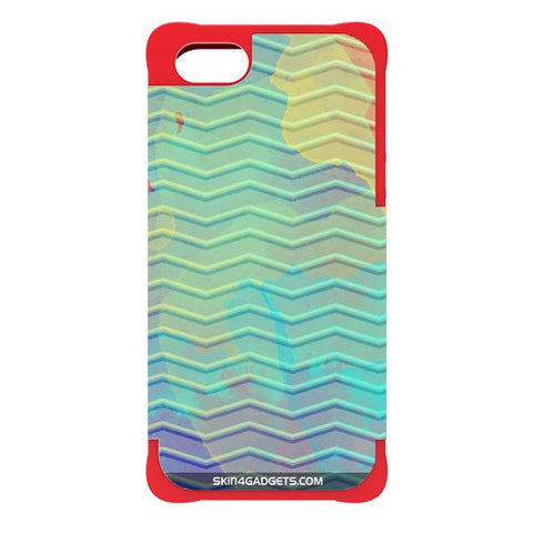 Colourful Waves For APPLE IPHONE 5 RED CARGO CASE