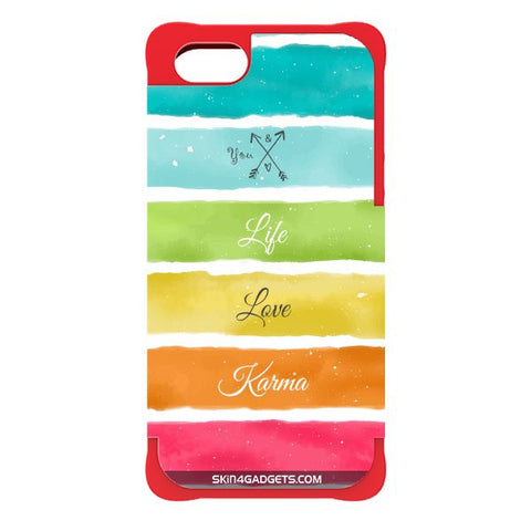 Lets Love Life For APPLE IPHONE 5 RED CARGO CASE
