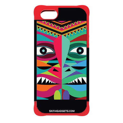 Tribal Face For APPLE IPHONE 5S RED CARGO CASE