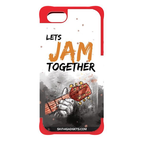 Lets Jam Together For APPLE IPHONE 5S RED CARGO CASE