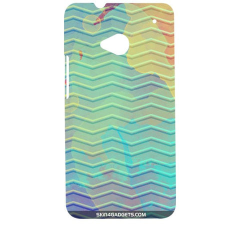 Colourful Waves For HTC ONE M7 Designer CASE