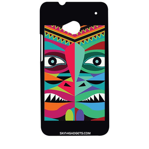 Tribal Face For HTC ONE M7 Designer CASE