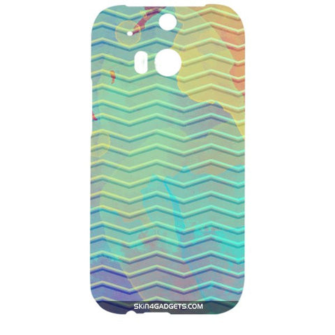 Colourful Waves For HTC ONE M8 Designer CASE