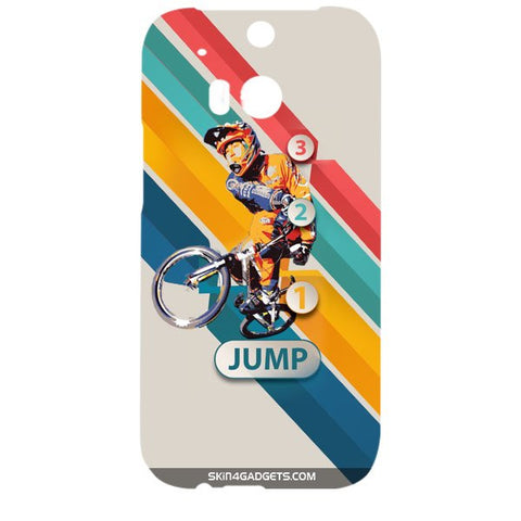 1 2 3 Jump For HTC ONE M8 Designer CASE