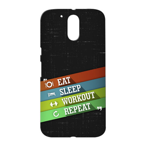 Eat Sleep Workout for Motorola Moto G4 Plus designer case