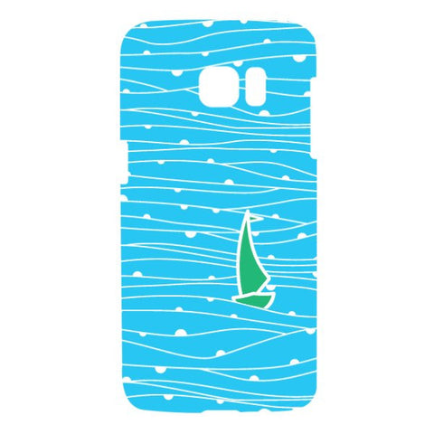 Boat Pattern For SAMSUNG GALAXY S7 EDGE Designer CASE