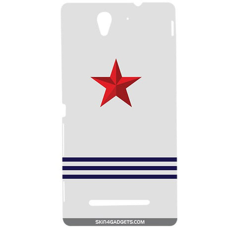 Star Strips For SONY XPERIA C3 DUAL  (s55t) Designer CASE