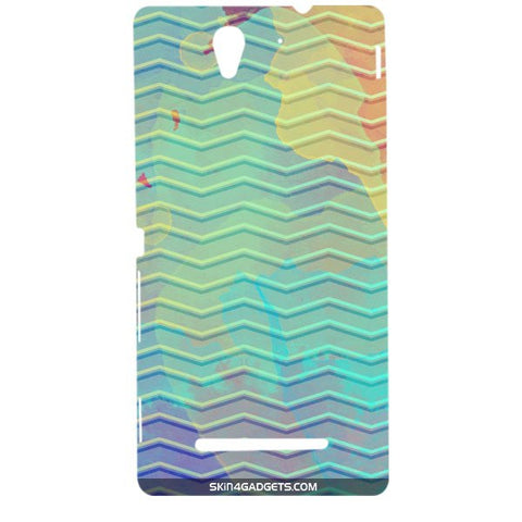 Colourful Waves For SONY XPERIA C3 DUAL  (s55t) Designer CASE
