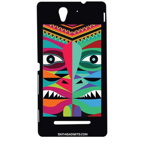Tribal Face For SONY XPERIA C3 DUAL  (s55t) Designer CASE