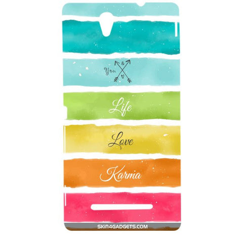 Lets Love Life For SONY XPERIA C3 DUAL  (s55t) Designer CASE