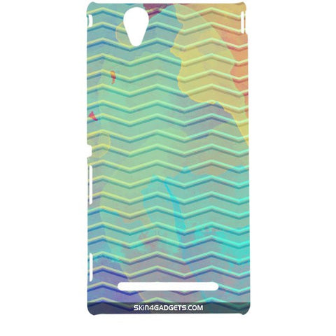 Colourful Waves For SONY XPERIA T2 ULTRA Designer CASE