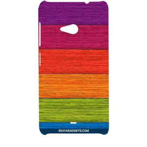 Multicolor Wooden Planks For MICROSOFT LUMIA 535 Designer CASE