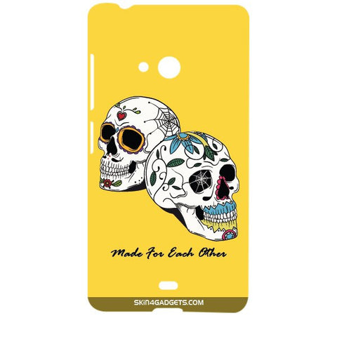 Made for each other (Skulls & Roses) For MICROSOFT LUMIA 540 Designer CASE