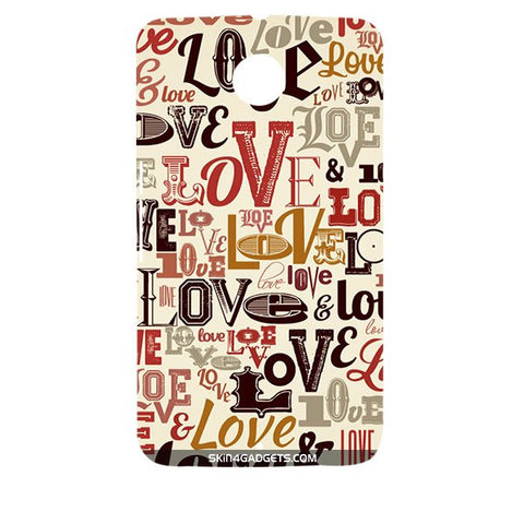 Love typography For MOTOROLA NEXUS 6 Designer CASE