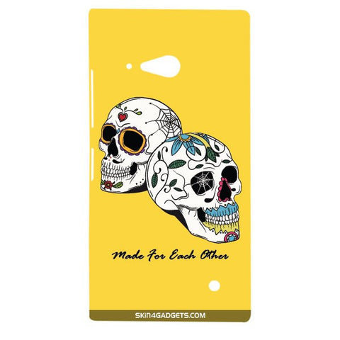 Made for each other (Skulls & Roses) For NOKIA LUMIA 730 Designer CASE