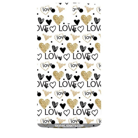 Heart and Love Doodle For ONE PLUS ONE Designer CASE