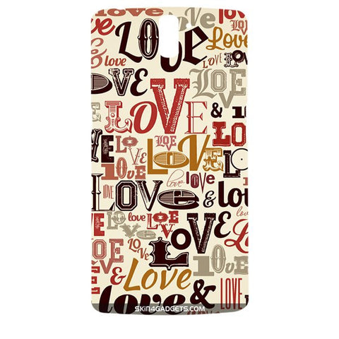 Love typography For ONE PLUS ONE Designer CASE