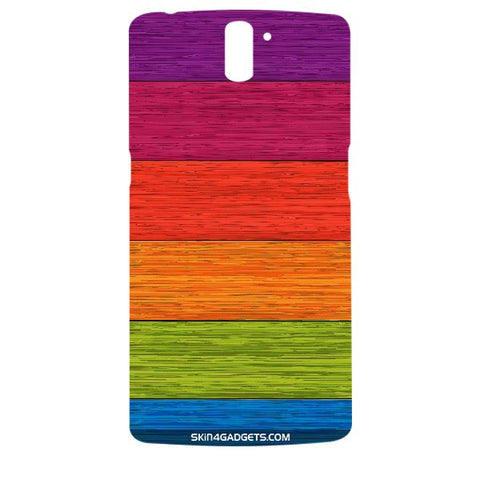 Multicolor Wooden Planks For ONE PLUS ONE Designer CASE