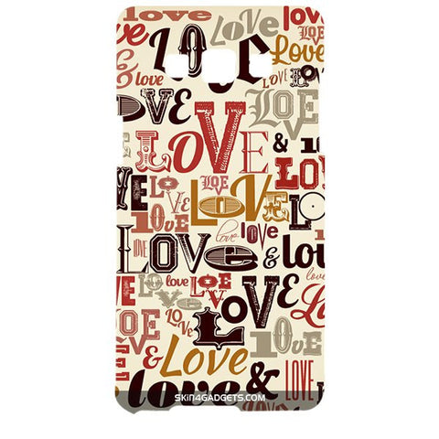Love typography For SAMSUNG GALAXY A5 (A5000) Designer CASE