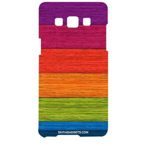 Multicolor Wooden Planks For SAMSUNG GALAXY A5 (A5000) Designer CASE