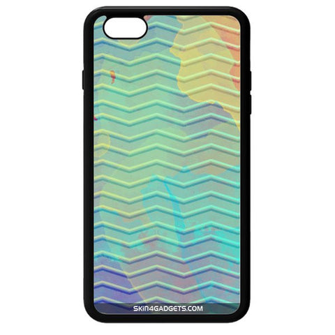 Colourful Waves For APPLE IPHONE 6 BLACK PRO CASE