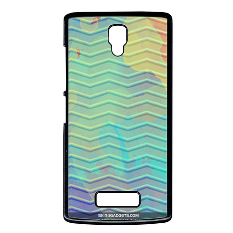 Colourful Waves For Lenovo A2 2010 BLACK PRO CASE