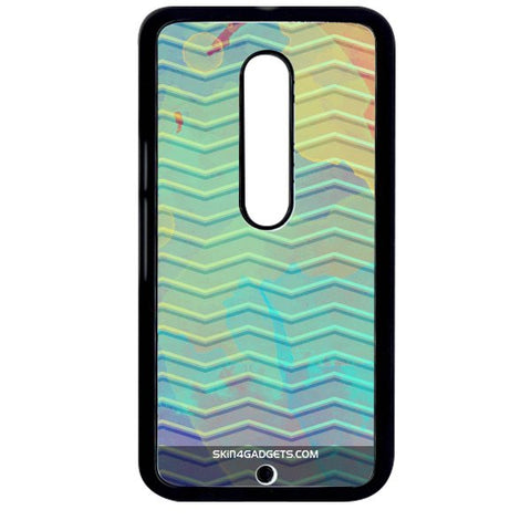 Colourful Waves For MOTO X STYLE BLACK PRO CASE