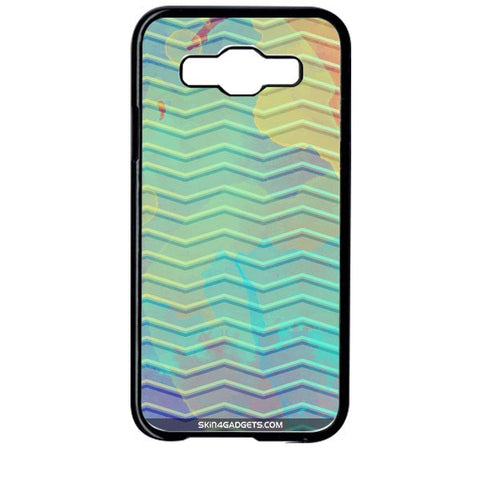 Colourful Waves For SAMSUNG GALAXY E5 BLACK PRO CASE