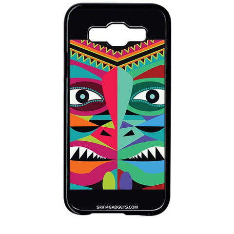 Tribal Face For SAMSUNG GALAXY E5 BLACK PRO CASE