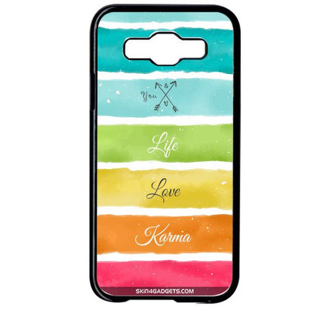 Lets Love Life For SAMSUNG GALAXY E5 BLACK PRO CASE